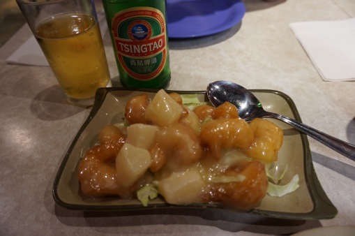 Tisngtao and coconut and pineapple shrimp!This one beats all the expensive & luxourious dishes we had.